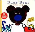 Busy Bear Takes A Trip Stickers