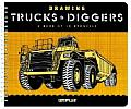 Drawing Trucks & Diggers A Book of 10 Stencils With Ten Different Stencils