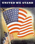 United We Stand Flying The American Flag