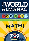 The World Almanac for Kids Puzzler Deck: Math: Ages 7-9, Grades 2-3