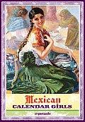 Mexican Calendar Girls Postcard Box