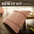 Sew It Kit 15 Simple & Stylish Sewing Projects for the Home With 15 Folded Project Cards With Step By Step Illustrations & 2 Pieces of Fabric 100% Cotton