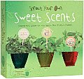 Sprout Your Own Sweet Scents Complete Mini Garden Kit with Seeds Peat Pellets Planters