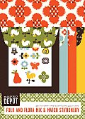 Reprodepot Folk and Flora Mix & Match Stationery