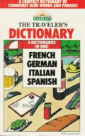 Travelers Dictionary French German Italian Spa