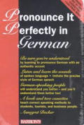 Pronounce It Perfectly In German Book &