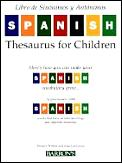 Libro de Sinonimos y Antonimos / Spanish Thesaurus For Children