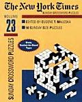New York Times Sunday Crossword Puzzles Volume 23
