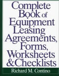 Complete Book Of Equipment Leasing Agree