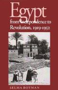 Egypt from Independence to Revolution, 1919-1952 (Contemporary Issues in the Middle East) Cover