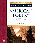 The Facts on File Companion to American Poetry, 2-Volume Set