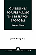 Guidelines for Preparing the Research Proposal