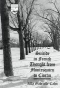 Suicide in French Thought from Montesquieu to Cioran