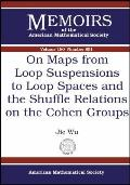 On maps from loop suspensions to loop spaces and the shuffle relations on the Cohen groups