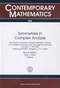 Symmetries in Complex Analysis