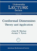 Conformal Dimension : Theory and App.vol.54 (10 Edition)