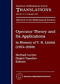 Operator theory and its applications; in memory of V.B. Lidskii (1924-2008)