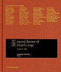 Annual Review Microbiology W/Online Vol 62