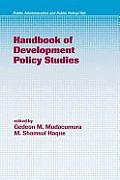 Handbook of Development Policy Studies