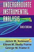 Undergraduate Instrumental Analysis, 6th Edition