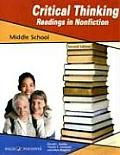 Critical Thinking Readings in Nonfiction: Middle School