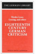 Eighteenth Century German Criticism (German Library)