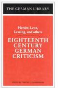 Eighteenth Century German Criticism