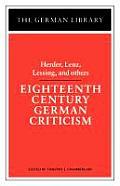 Eighteenth Century German Criticism (German Library)