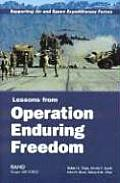 Supporting Air and Space Expeditionary Forces: Lessons from Operation Enduring Freedom