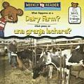 What Happens at a Dairy Farm?/ Que Pasa En Una Granja Lechera? (Where People Work/Donde Trabaja La Gente?)