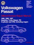 Volkswagen Passat Official Factory Repair Manual 1995 1997 Including Gasolilne Turbo Diesel Tdi 4 Cylinder Vr6 & Wagon