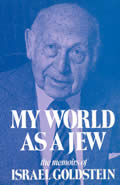 My world as a Jew :the memoirs of Israel Goldstein, Volume 1