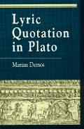 Lyric Quotation in Plato