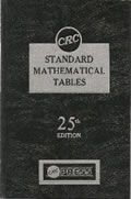 CRC Standard Mathematical Tables 25th Edition