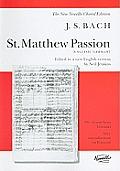 St. Matthew Passion: Vocal Score