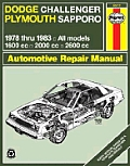 Dodge Challenger Plymouth Sapporo Repair Manual 1978 1983 All Models