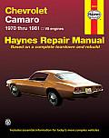 Chevrolet Camero V8 Repair Manual: 1970 Thru 1981 (Haynes Repair Manuals)