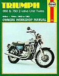 Triumph 650 & 750 2-Valve Twins Owners Workshop Manual (Haynes Triumph 650 & 750 4-Valve Twins Owners Workshop Manua)