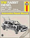 VW owners workshop manual :models covered, VW Rabbit, Pick-up and Jetta diesel, 90 and 97 cu in  1471 and 1588 cc , 1977 thru 1984