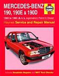 Mercedes Benz 190 190E 190 D 1983 to 1993