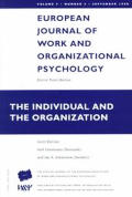 The Individual and the Organization: A Special Issue of the European Journal of Work and Organizational Psychology