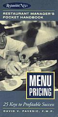 Menu Pricing Restaurant Managers Pocket