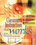 Classroom Instruction That Works Research Based Strategies for Increasing Student Achievement