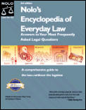 Nolos Encyclopedia Of Everyday Law 3rd Edition