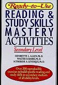 Ready-To-Use Reading & Study Skills Mastery Activities: Secondary Level