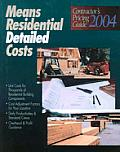Means Residential Detailed Costs 2004