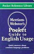Merriam Websters Pocket Guide to English Usage