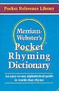 Merriam Websters Pocket Rhyming Dictionary