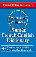Merriam-Webster's Pocket French-English Dictionary: A Handy Guide to Essential French and English Vocabulary Cover