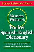 Merriam-Webster's Pocket Spanish-English Dictionary (Pocket Reference Library) Cover